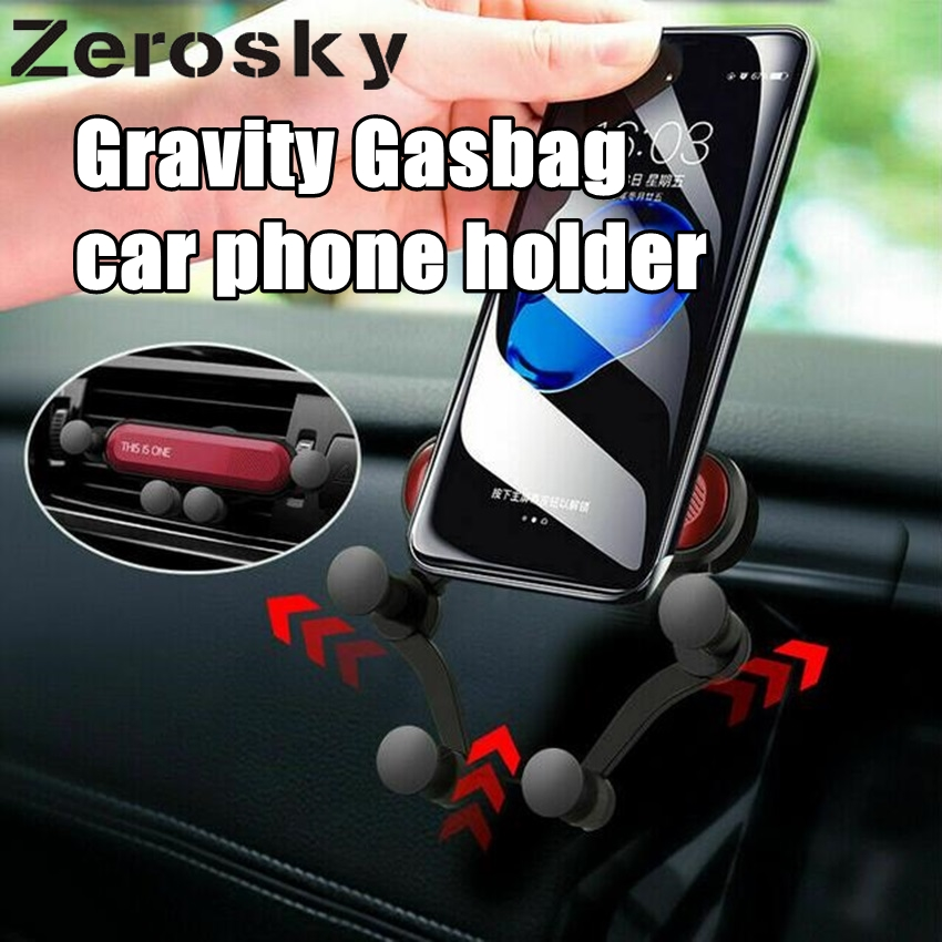 Gravity Gasbag car phone holder phone stand car air vent clip Mount No magnetic Mobile holder for iPhone X 7 in Phone Holders Stands from Cellphones Telecommunications