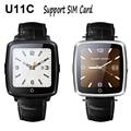 U11C Bluetooth Smart Watch Шагомер Sleep Monitor Поддержка Sim-карты Smarttwatch для iPhone 5s 6 s 7 для Samsung S6 S7 PK U8 GT08