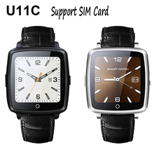 U11c bluetooth smart watch smarttwatch podómetro sleep monitor de soporte de la tarjeta sim para iphone 5s 6 s 7 para samsung s6 s7 pk u8 GT08