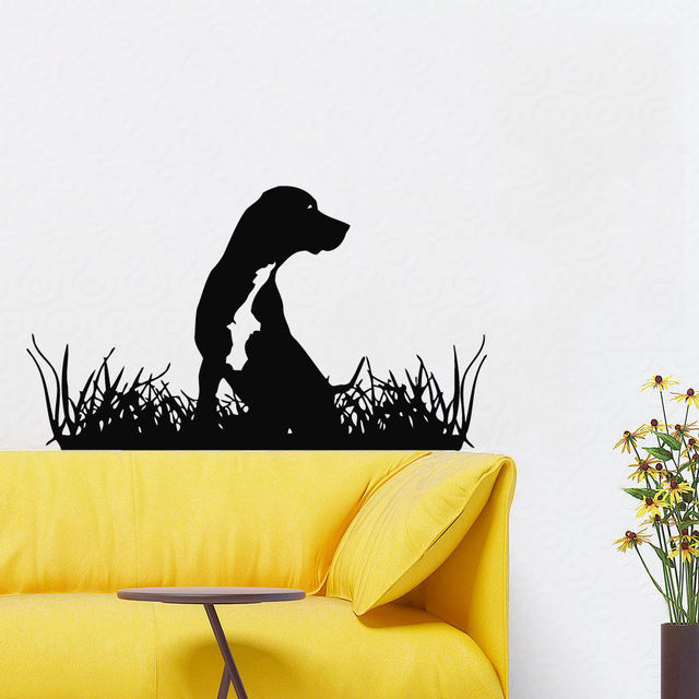 Dog Vinyl Wall Decal Pet Grooming Salon Animal Dog Mural Art Wall ...