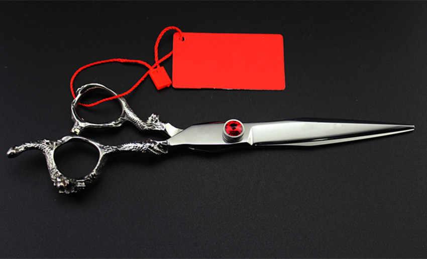 Haut de gamme professionnel japon 7 pouces ciseaux Dragon pet chien toilettage cheveux ciseaux coupe de cheveux berbère coupe ciseaux de coiffure