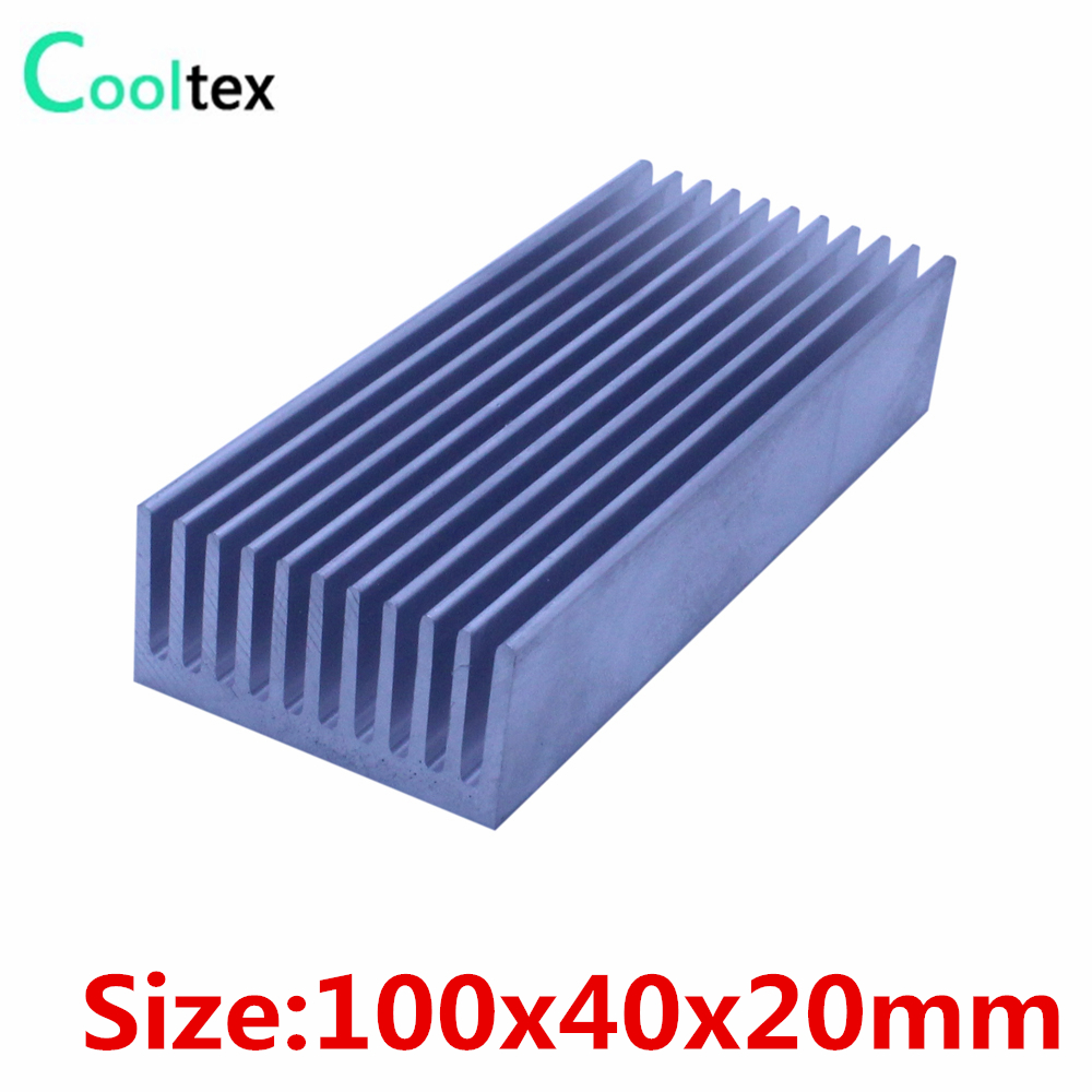 10pcs/lot 100x40x20mm Aluminum heatsink radiator heat sink for chip LED cooling cooler 1 pcs aluminum radiator heat sink heatsink 60mm x 60mm x 10mm black