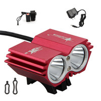 Free Shipping New SolarStorm 5000Lumens 2x CREE XM L2 LED USB Head Bike Lamp HeadLight Light