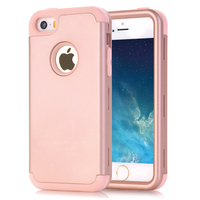 For Apple IPhone 5S Case Cover Shockproof Hybrid Three Layer Hard Back Soft Inner Cover Phone