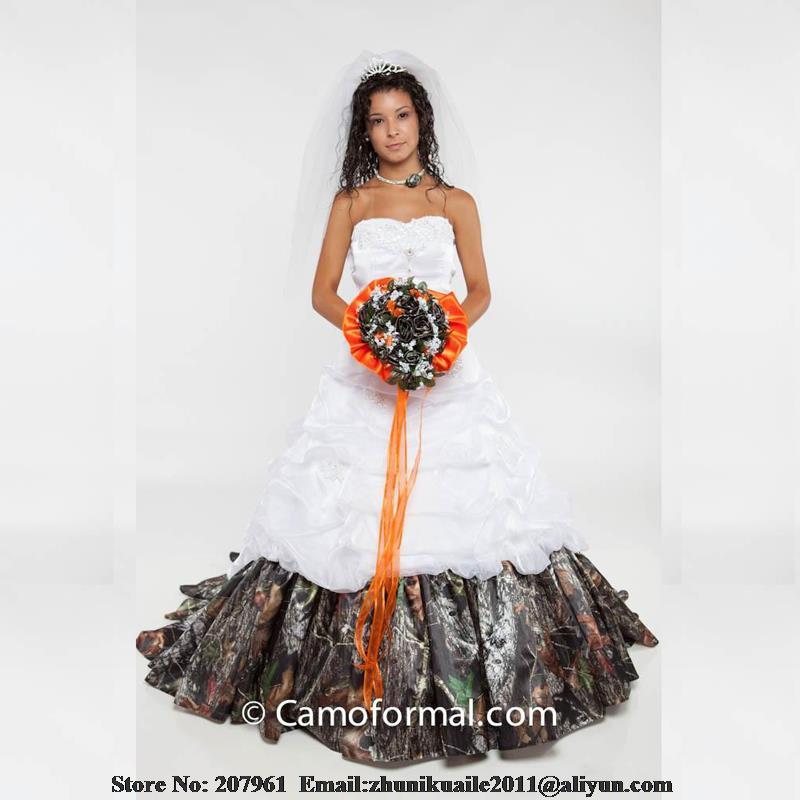 White and camo prom dresses