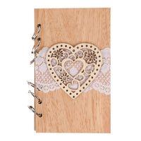 2018 Свадебные книги для гостей, парные деревянные блокноты, винтажная лазерная резка древесины, журнал, свадебные украшения