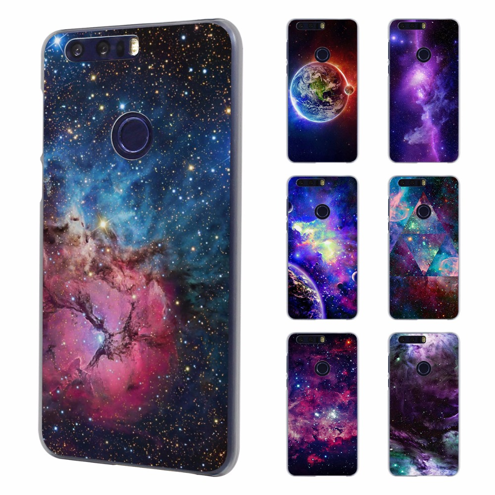 Earnest Moon Space Map Marble Stone Style Transparent Phone Shell Case For Huawei Honor 4x 5x 4c 5c 6 Plus Honor 7 8 V8 8lite Half-wrapped Case