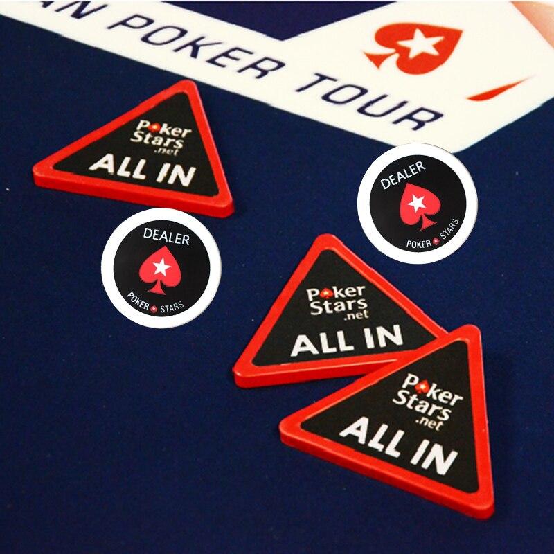 Poker Stars All In Button Poker Dealer Button Poker Chips Accessory Pokerstars Card Guard Big Size 75mm