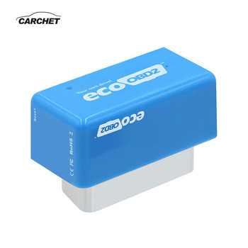 CARCHET Chip OBD2 Nitro Eco Fuel Saver ECU Chip Tuning Box Plug & Driver Eco OBD2 For Diesel Cars 15% Fuel Save More Power blue