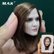 1/6 Female Head Sculpt Accessory Hermione Emma Watson Cearved with Short Straight Hair Model for 12 Action Figure