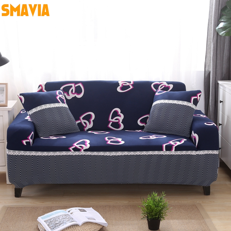 SMAVIA New Arrival All-inclusive Sofa Cover Elasticity Stretch Sofa Towel Anti-skid 100% ...