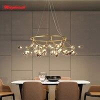 LED Modern firefly big Circle Round Ring pendant lamp stylish tree branch pendant lamps decorative hanging Led pendant lighting