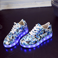 2016 USB LED Kids Shoes High Quality Flash Lighted LED Sneakers For Boys And Girls Shoes With Light Fashion Brand Boys Shoes