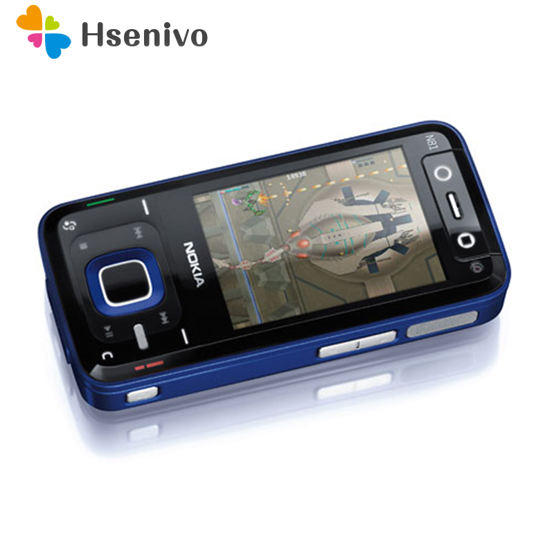 N81 Desbloqueado 100% Original Nokia N81 GSM 2MP 3g rede WI-FI câmera FM 2.4 polegada Do Telefone Móvel 1 Ano garantia remodelado