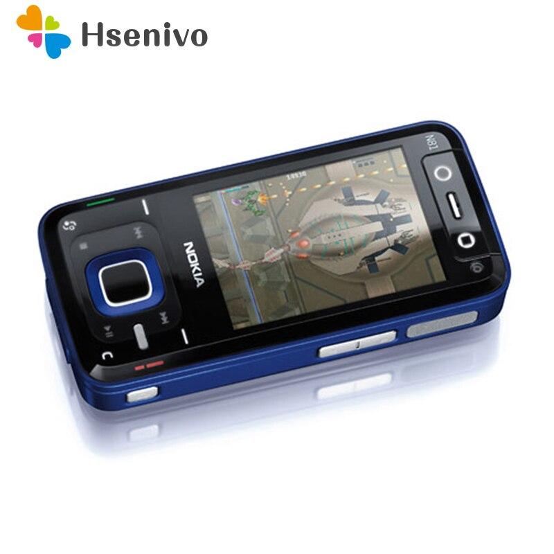 N81 Entsperrt 100% Original Nokia N81 GSM 3g netzwerk WIFI 2MP kamera FM 2,4 zoll Handy 1 Jahr garantie renoviert