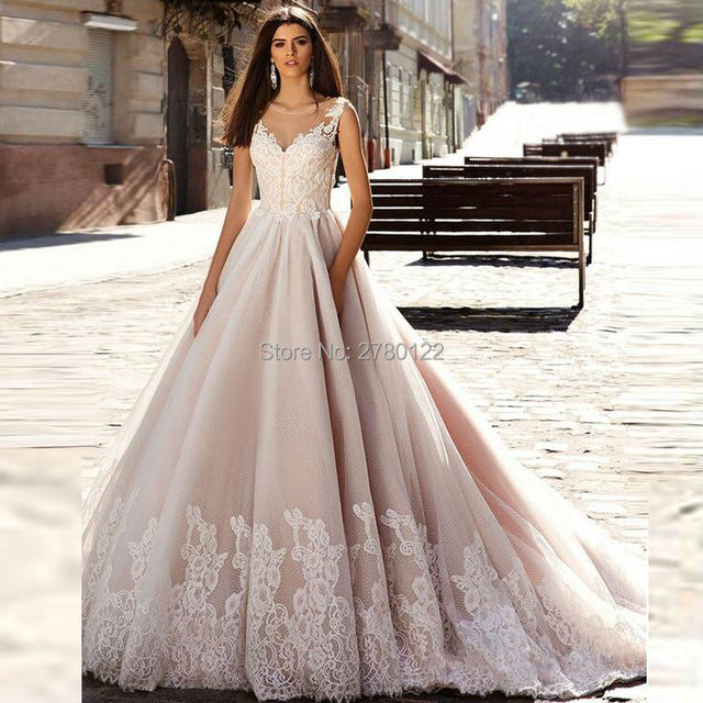Vestido de Bola Tribunal Tren Vestido de novia Precio Barato de La ...