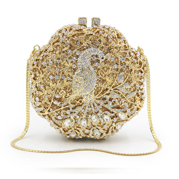 Factory Directly Wholesale gold Crystal Rhinestone Diamond Evening Purse Evening Clutch silver Boxed Evening Bag and Clutches