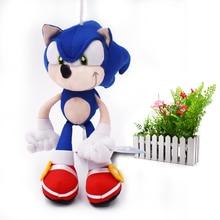 20 pcs/lot Blue Sonic Cartoon Animal Stuffed Plush Toys Figure Dolls Gifts For Kids cm  Christmas Gift