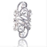 Choucong ювелирный бренд класса люкс 925 пробы Серебряный цветок 5a Цирконий, фианит кольца коктейльное кольцо для женщин размеры 5,6, 7,8, 9,10