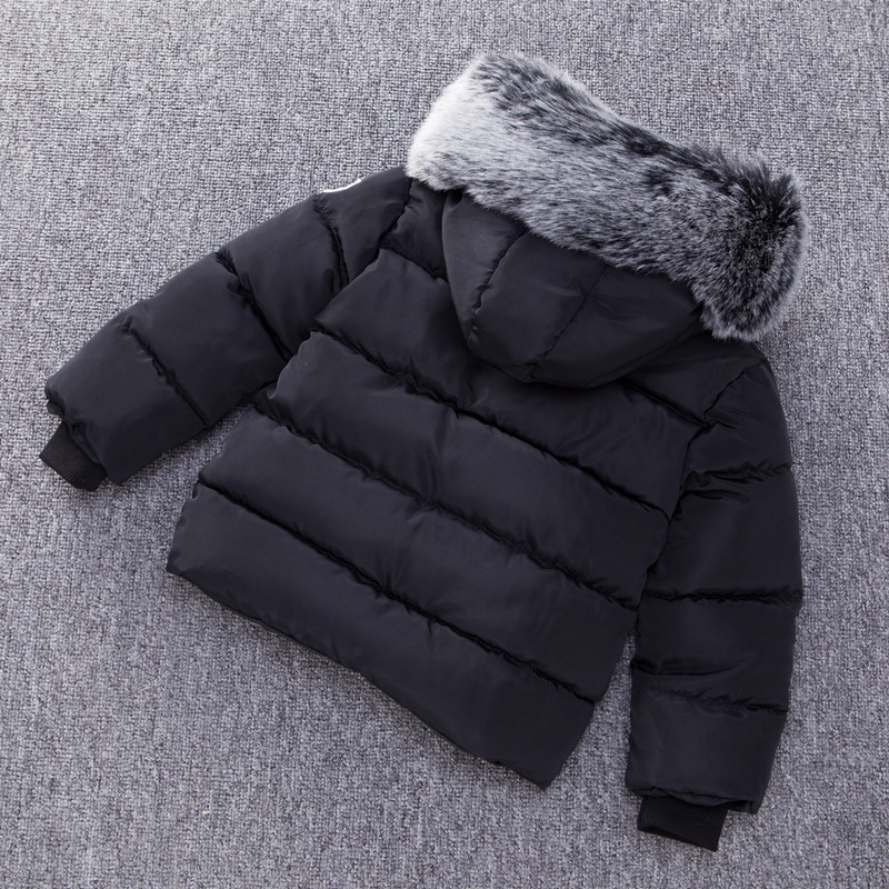 Image 3 - Fashion Autumn Winter Jacket For Boys Children Jacket Kids Hooded Warm Outerwear Coat For Boy Clothes 2 7 Year Baby Boys Jacket-in Down & Parkas from Mother & Kids