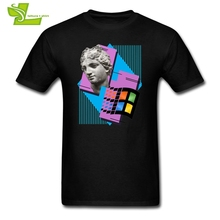 T Shirt Vaporwave Windows 95 1995 Retro Music Cool T-Shirts Adult Crew Neck Tees New Arrival Short Sleeved Men's Cool O Neck