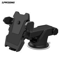 LPWZHMG New 360 Degree Car Phone Holder Windshield Long Arm Dashboard Mount Retractable Bracket For Mobile