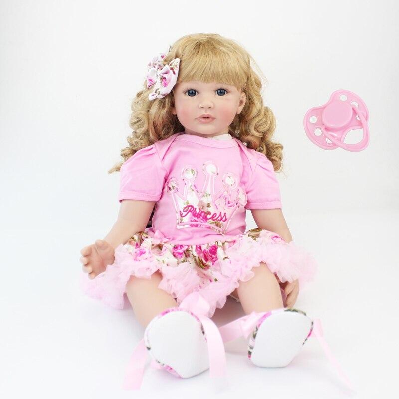 60 см силиконовая кукла реборн игрушки 24 дюймов виниловая принцесса малыш куклы живые подарок на день рождения игровой дом игрушки для девоч...