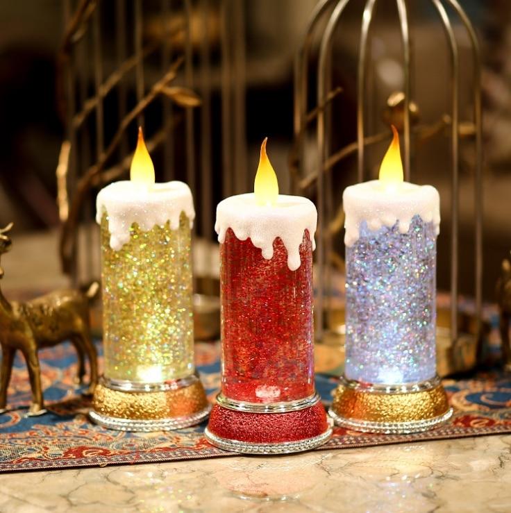 Birthday Lamp Candle Lights Christmas Kids Table Lamps Night Light Creative Birthday Gift Lights Lampe