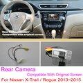 Para Nissan X-trail/Rogue 2013 ~ 2015/RCA y Pantalla Original Compatible/Cámara de Visión Trasera Fija/HD Copia de seguridad Cámara de Marcha Atrás