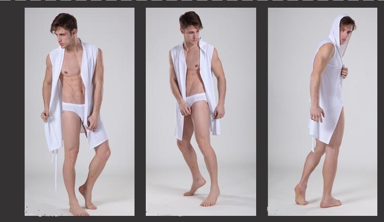 sem mangas roupão de banho de seda