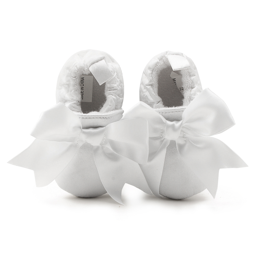 Delebao New Christening Baby Shoes 0-1 Years Newborn Baby Baptism White Shoes Wholesale