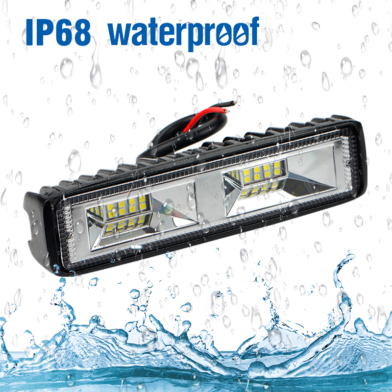 Image 5 - OKEEN Super Bright LED Work Light 48W Offroad Car 4WD Truck Tractor Boat Trailer 4x4 SUV ATV 12V Flood LED Light Bar Fog Lamp-in Light Bar/Work Light from Automobiles & Motorcycles