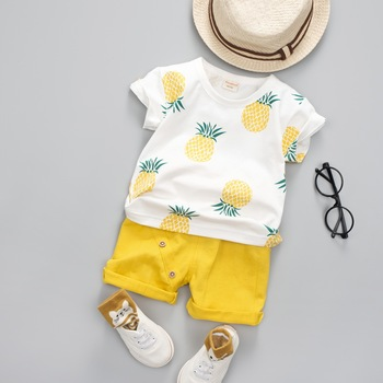 Summer Printed Cotton Set For Boys 1