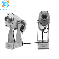 Indoor Silver 80W LED Custom Gobo Logo projector Shop Mall Advertising 10000lm Rotary Image Projection Lamp Light with GlassGobo