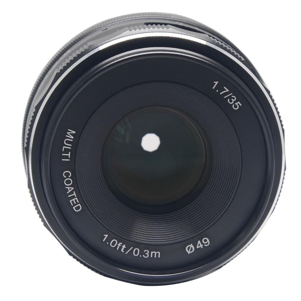 Vendice Meike MK-4/3-35-1.7 35mm f 1.7 Large Aperture Manual Focus lens APS-C For 4/3 systems cameras Olympus Panasonic 35mm f1 7 cctv lens macro rings c m4 3 adapter ring set for olympus panasonic silver