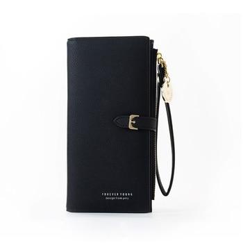 Wristband Women Long Wallet Many Departments Female Wallets Clutch Lady Purse Zipper Phone Pocket Card Holder Ladies Carteras 12