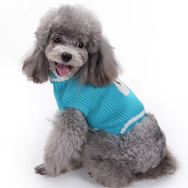 blue snowman christmas knit pet cat dog sweater jumper costume pullover large dog clothes for animals dogs chihuahua clothing - Large Dog Christmas Sweaters
