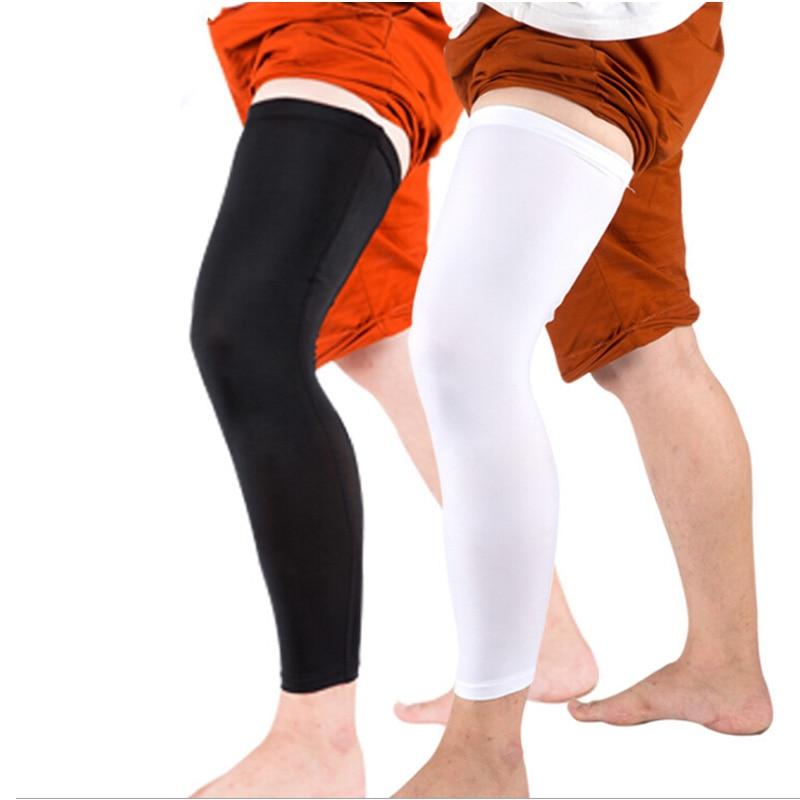 1 stücke Professionelle rutschfeste Beinwärmer Knie Laufen Basketball Legging hohe elastische atmungsaktiv verlängert Leggings Outdoor Beine