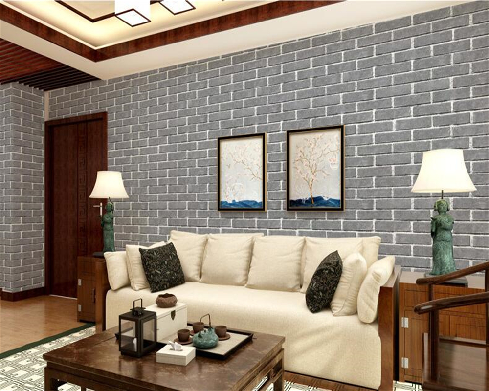 beibehang Simple fashion clothing store hotel barber shop brick wall paper beauty salon Cafe style brick pattern 3d wallpaper x 3309 v folded paper dispenser abs plastic wall mounted paper holder home hotel toilet paper box