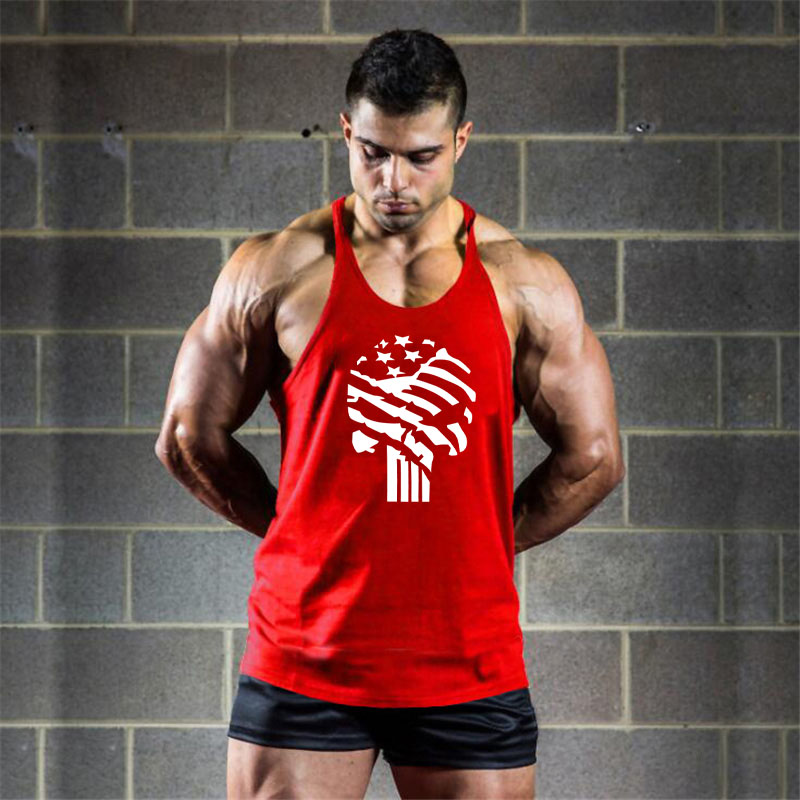 Emptiness Skull Cotton Gym Tank Tops Men Sleeveless shirt For Boy Bodybuilding Clothing Undershirt Fitness Stringer workout Vest in Tank Tops from Men 39 s Clothing