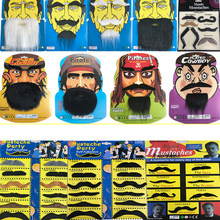 10 Pack creativo divertido falso pirata bigote Halloween Cosplay bigote falso barba batidor para niños adultos vestido de fiesta(China)