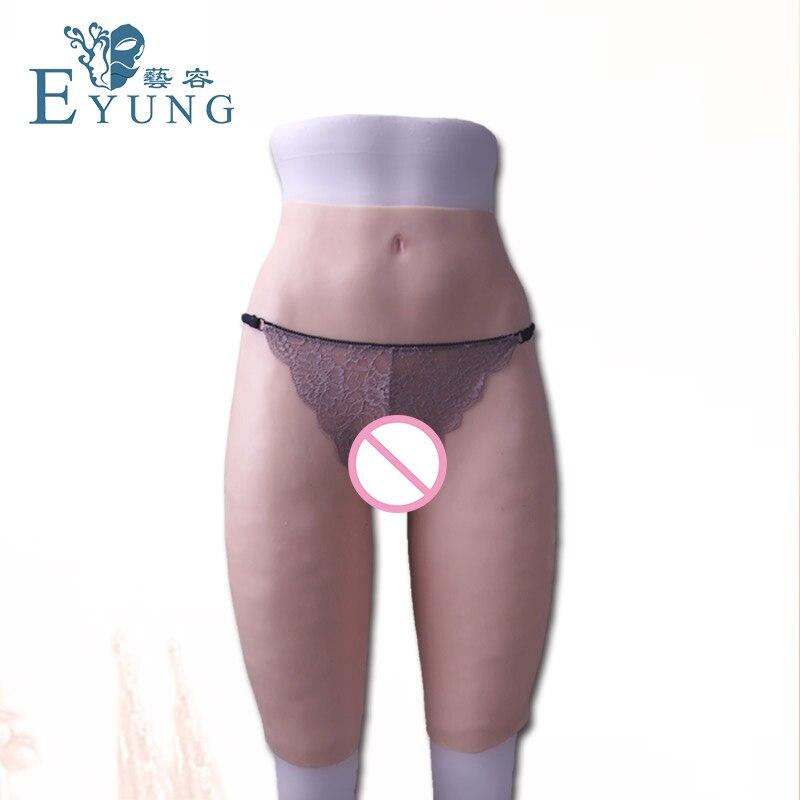 Ass Silicone realista Super calças para crossdresser Transgêneros transsexual sexo anal Realistas Da Vagina real Buceta