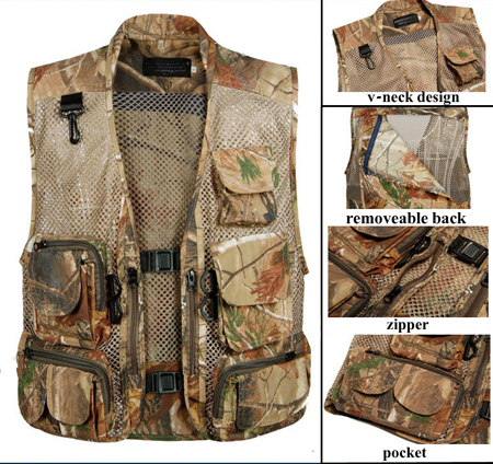Mens Summer Breathable Outdoor Airsoft Hunting Fishing Camouflage Military Tactical Airsoft Mesh Vest Multi-Pockets Waistcoat