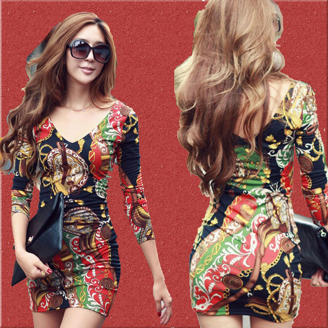 Free Shipping 2013 Sexy Print Dress Women Mini Bodycon Casual Skirt Fashion Party Club Wear New Style Spring Summer Wholesale