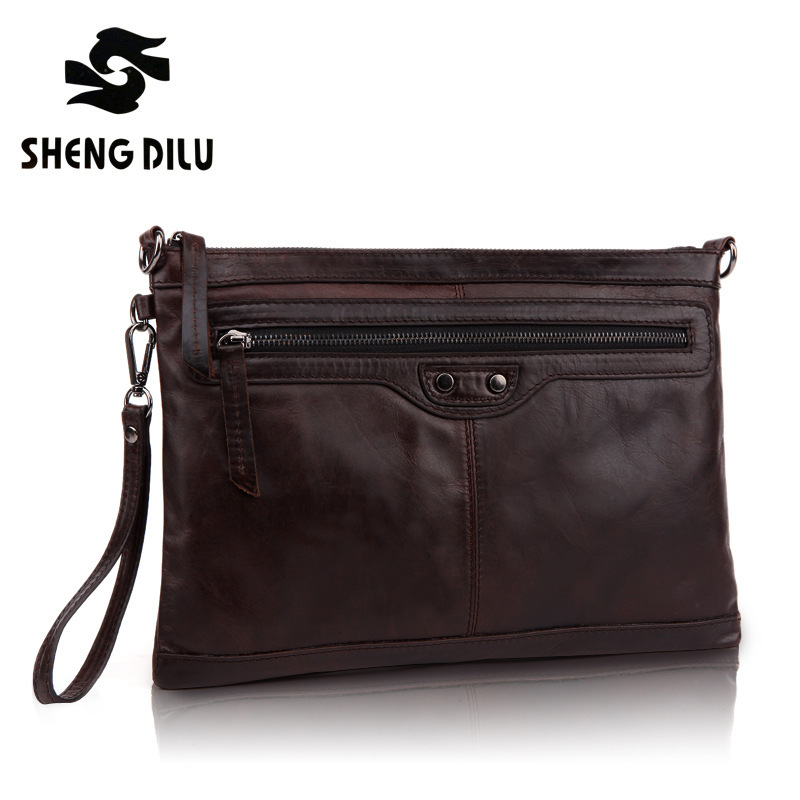 High Quality Men's First Layer Genuine Leather vintage Business tote bags Men messenger bag briefcase men's travel bag 1302# selenga hd860 2002