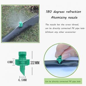 Image 5 - 50Pcs/lot 180 Degree Micro Garden Lawn Water Spray Misting Nozzle Sprinkler Irrigation System