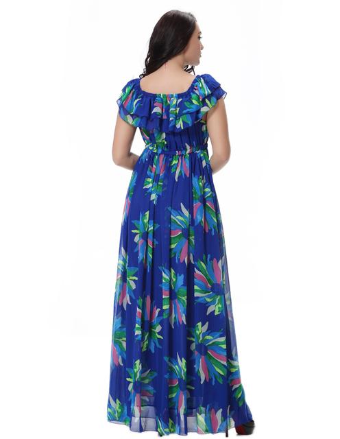 Floral Print Chiffon Maxi Dress