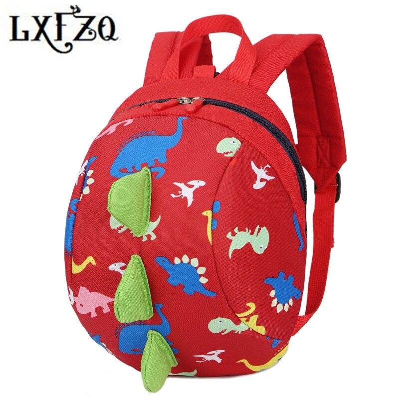 LXFZQ school bags Anti-lost Kids Bags backpack for children Cute mochilas escolares infantis Cartoon Animal School knapsack