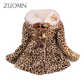 Winter Baby Girls Cotton Jackets Warm Lolita Style Leopard Printed Coat Kids Infant Thick Outerwears Baby Clothes GH296