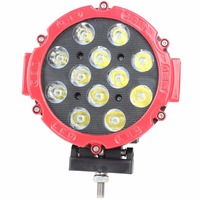 2pcs 7 Inch 60W LED Work Light Bar For Tractor Boat OffRoad 4WD 4x4 Truck SUV